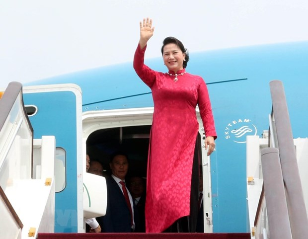 La presidente de l'AN Nguyen Thi Kim Ngan arrive a Pekin hinh anh 1