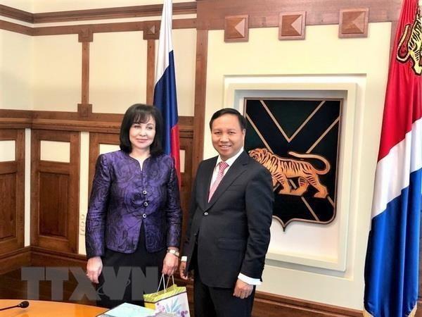Le Vietnam et la province russe de Primorye renforcent leur cooperation economique hinh anh 1