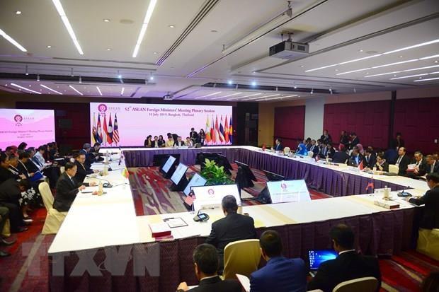 Ouverture de la 52eme reunion des ministres des Affaires etrangeres de l'ASEAN en Thailande hinh anh 1