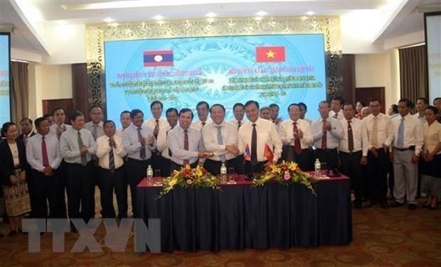 Quang Tri et des provinces laotiennes signent un accord de cooperation pour 2020-2022 hinh anh 1