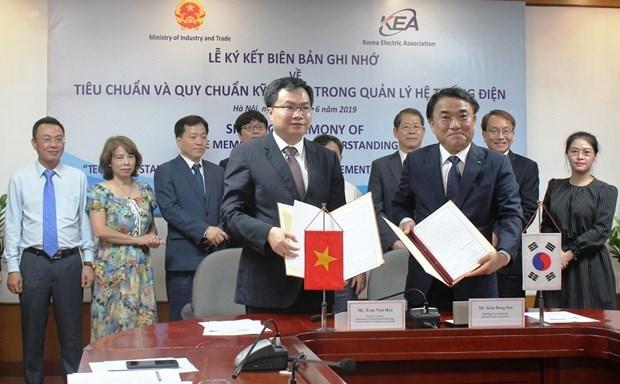 Vietnam et R. de Coree signent un protocole d'accord sur la gestion du systeme electrique hinh anh 1