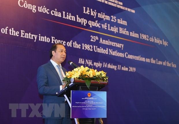 Celebration des 25 ans de l'entree en vigueur de la CNUDM a Hanoi hinh anh 1