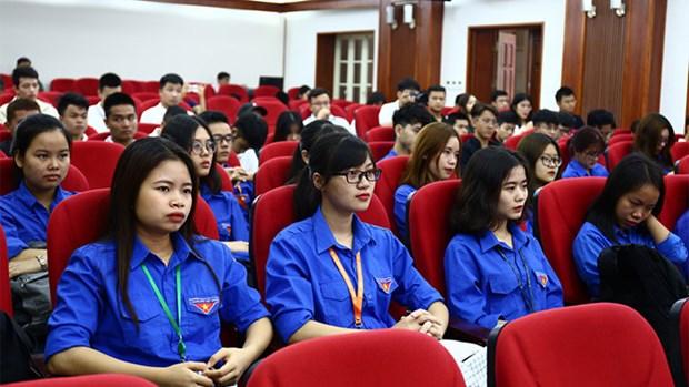 """Les jeunes de la capitale en reponse au concours """"Etudes sur le Parti communiste du Vietnam"""" hinh anh 2"""