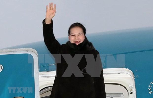La presidente de l'AN Nguyen Thi Kim Ngan entame sa visite officielle en Bielorussie hinh anh 1