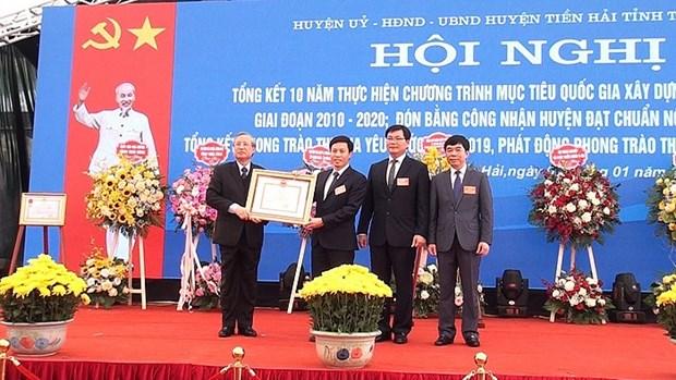Thai Binh: le district de Tien Hai atteint les normes de la Nouvelle Ruralite hinh anh 1