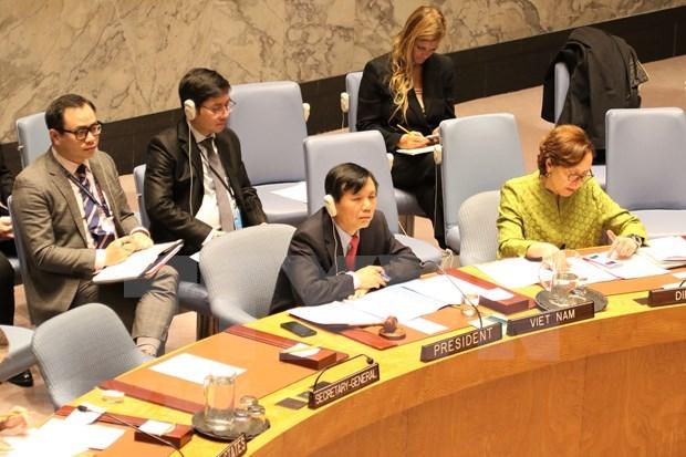 ONU : le Vietnam preside la seance sur la consolidation de la paix en Afrique de l'Ouest hinh anh 1