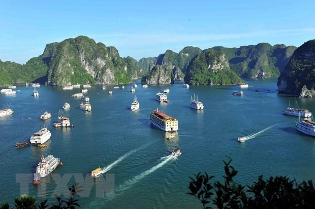 Ceremonie pour honorer la double reconnaissance de la baie d'Ha Long par l'UNESCO hinh anh 1