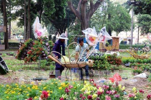 Ho Chi Minh-Villle s'active avec des festivals de fleurs, des marches du Tet hinh anh 1