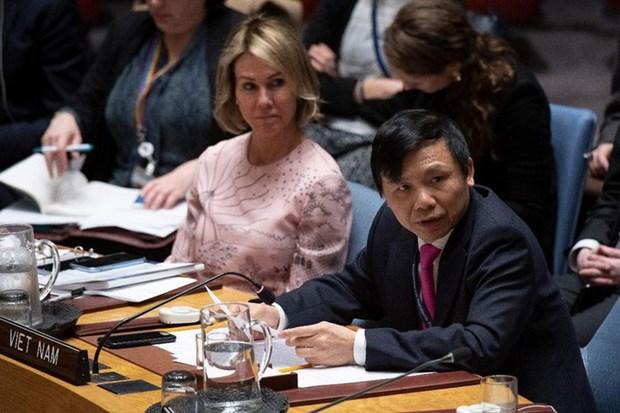 Le Vietnam appelle les parties concernees a trouver une solution pacifique au Moyen-Orient hinh anh 1