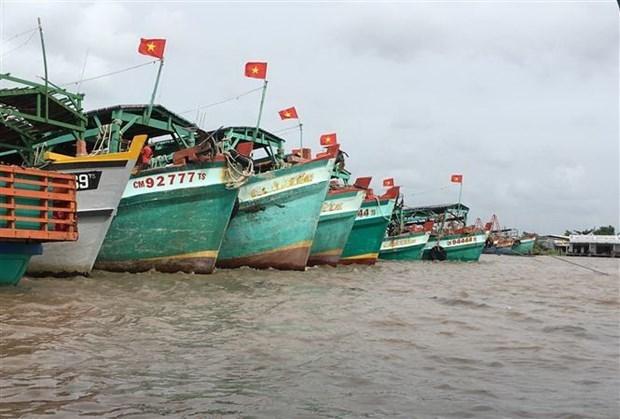 Da Nang : installation de dispositifs de surveillance des bateaux de peche avant le 15 mars hinh anh 1