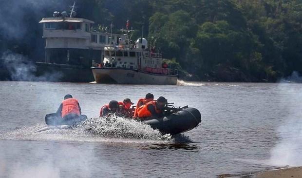 Quatre pays riverains du Mekong commencent leur 91e patrouille commune hinh anh 1