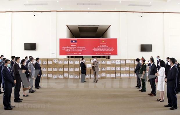 Le Laos salue le soutien du Vietnam a sa lutte contre le COVID-19 hinh anh 1