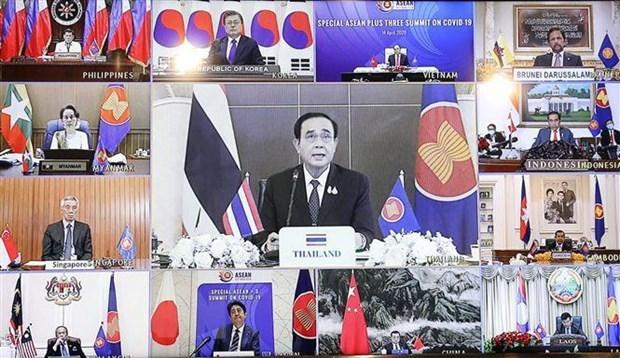 Le PM thailandais souligne la cooperation regionale dans la lutte anti-COVID-19 hinh anh 1