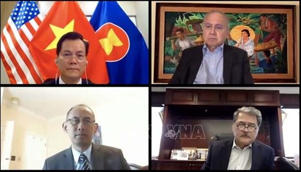 Le Vietnam a la reunion en ligne du Comite de l'ASEAN aux Etats-Unis hinh anh 1
