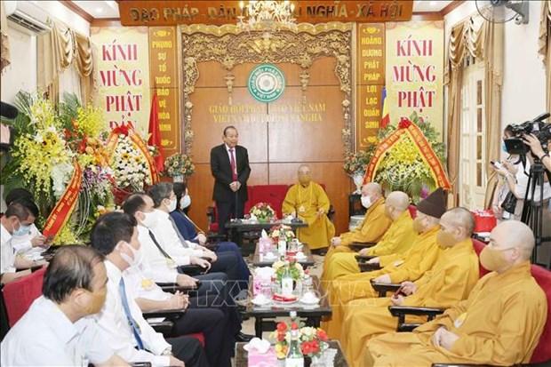 Le vice-PM Truong Hoa Binh presente ses vœux a l'occasion du Vesak hinh anh 1