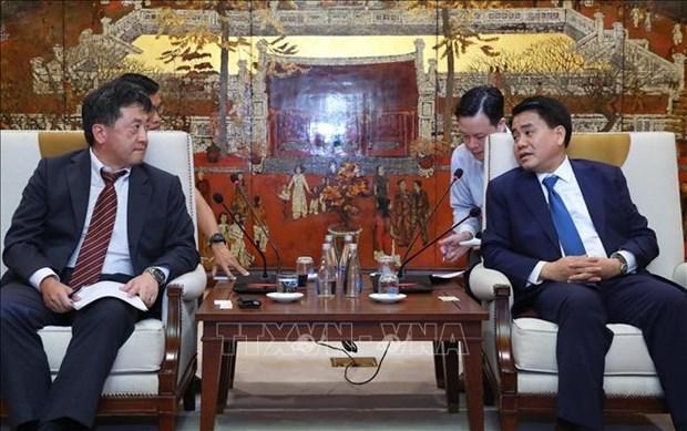 Hanoi et la JICA renforcent la cooperation pour assurer l'avancement des projets hinh anh 1