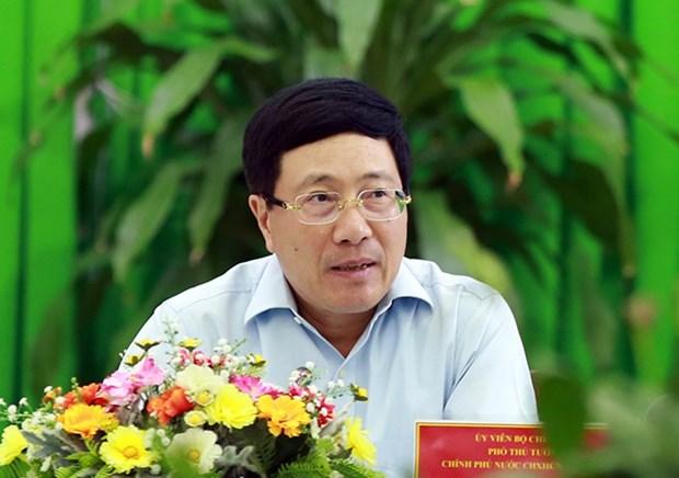 Le vice-PM Pham Binh Minh travaille avec les autorites du delta du Mekong hinh anh 1