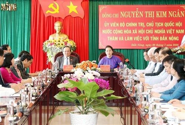 La presidente de l'AN exhorte Dak Nong a preter attention aux politiques religieuses hinh anh 1