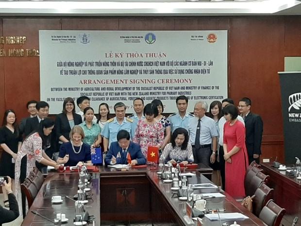 Vietnam-Nouvelle-Zelande: utilisation d'e-Cert dans le dedouanement des produits agricoles hinh anh 1