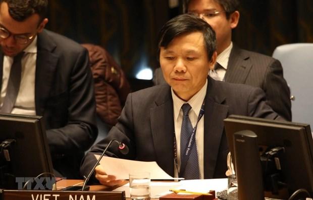 ONU: dialogue sur l'impact du COVID-19 sur les pays touches par un conflit hinh anh 1