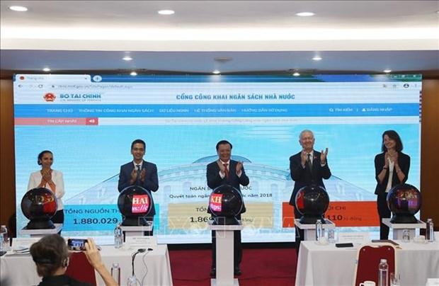 Inauguration du portail public du budget de l'Etat hinh anh 1