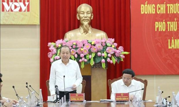Le vice-Premier ministre Truong Hoa Binh a Quang Ninh hinh anh 1