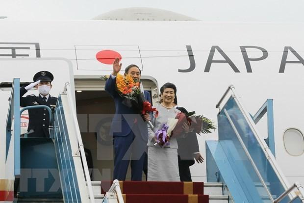 Le PM japonais Suga Yoshihide termine sa visite officielle au Vietnam hinh anh 1