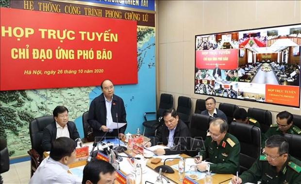 Le PM dirige des mesures pour une reponse d'urgence au typhon MOLAVE hinh anh 1