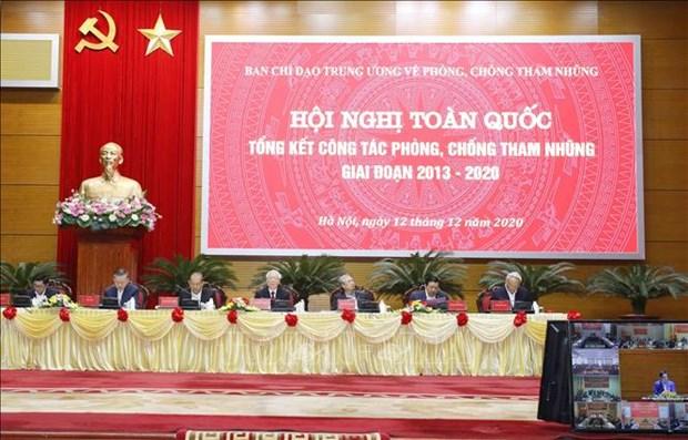 Le leader du PCV souligne les progres dans la lutte contre la corruption hinh anh 1