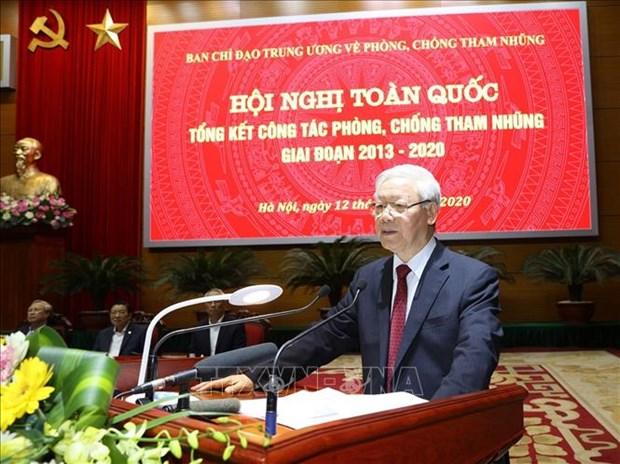Le leader du PCV souligne les progres dans la lutte contre la corruption hinh anh 2