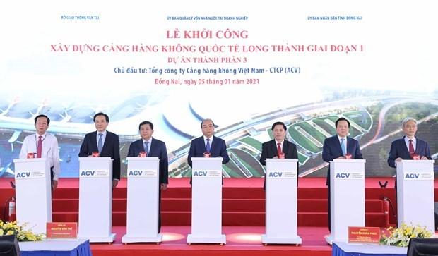 L'aeroport de Long Thanh contribuera a la puissance du Vietnam , selon le PM hinh anh 1