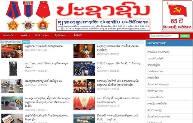 Un journal lao salue l'œuvre de construction du socialisme du Vietnam hinh anh 1