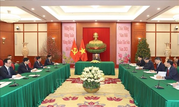 Vietnam-Chine : conversation telephonique entre Nguyen Phu Trong et Xi Jinping hinh anh 2
