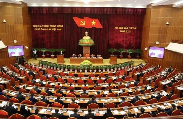 Ouverture du 2e Plenum du CC du PCV du 13e mandat hinh anh 1