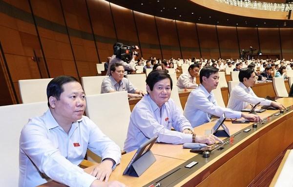 L'AN approuve la releve du vice-PM, des ministres et des membres du cabinet hinh anh 1