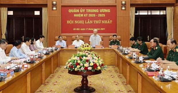 La Commission militaire centrale pour le mandat 2020-2025 se reunit hinh anh 2