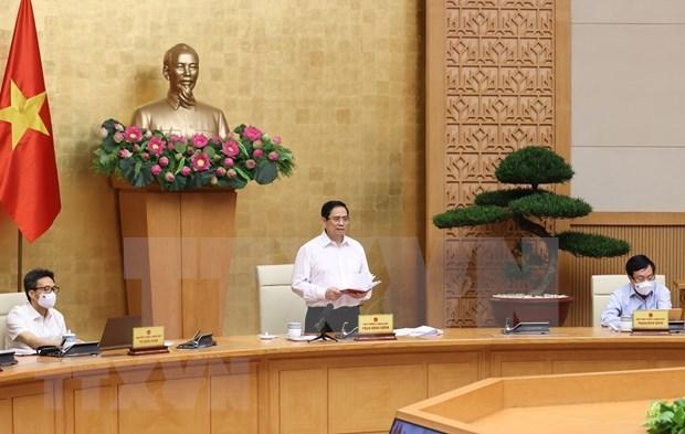 Le PM travaille avec huit localites du Sud sur des mesures de lutte contre la pandemie hinh anh 1