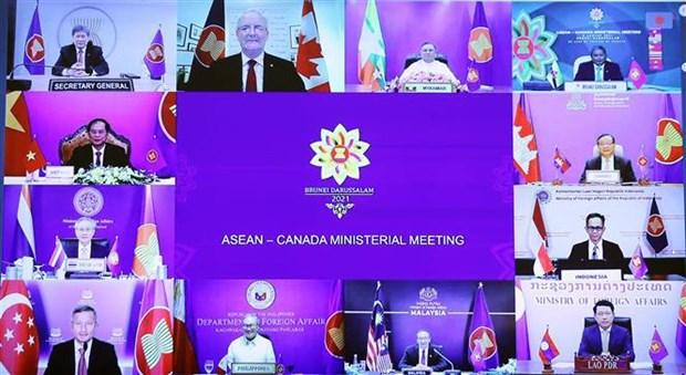 Reunion des ministres des Affaires etrangeres ASEAN-Canada hinh anh 2