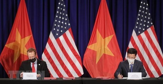 Signature d'un accord sur le nouvel emplacement de l'ambassade des Etats-Unis au Vietnam hinh anh 1