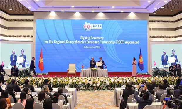 L'accord RCEP devrait entrer en vigueur au debut de 2022 hinh anh 1