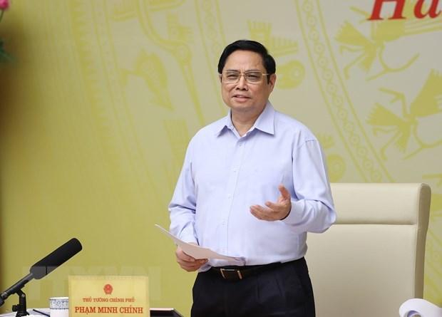 Covid-19 : le PM et le milieu des affaires discutent des moyens de s'attaquer aux difficultes hinh anh 1