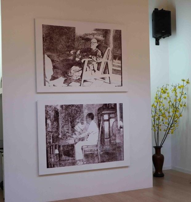 Le peintre belgo-vietnamien trouve ses racines a travers la peinture hinh anh 2