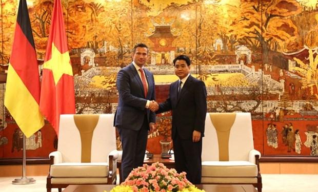 Hanoi favorise l'investissement allemand dans les projets d'approvisionnement en eau hinh anh 1