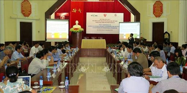 Colloque sur le modele de gouvernance et des institutions universitaires au Vietnam hinh anh 1