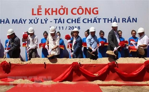 Mise en chantier de l'usine de traitement et de recyclage des dechets solides Tasco Cu Chi hinh anh 1