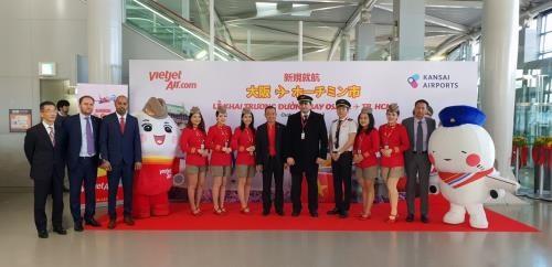 Vietjet Air lance la ligne directe entre Ho Chi Minh-Ville et Osaka (Japon) hinh anh 1