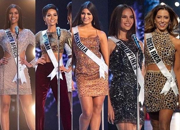 H'hen Nie du Vietnam figure dans le top 5 de Miss Univers 2018 hinh anh 1