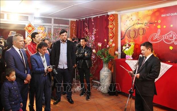 La communaute des Vietnamiens en Algerie fete le Tet 2019 hinh anh 1
