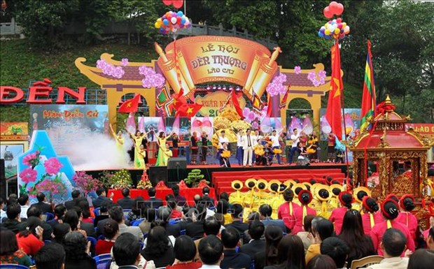 La fete printaniere du temple Thuong 2019 a Lao Cai hinh anh 1