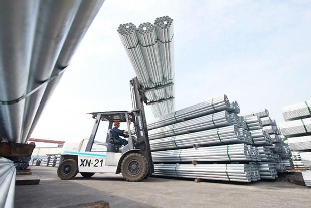 Hoa Phat exportera pres de 1 .000 tonnes de tubes en acier galvanise vers l'Inde hinh anh 1